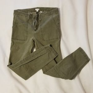 J. Crew Army Green Chino Jeans
